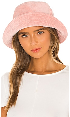 Peach Terry Cloth Bucket Hat Lack of Color $99
