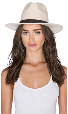 Lack of Color The Oracle Hat in Cream & Brown Leather