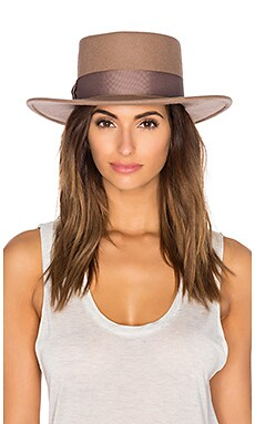 Lack of Color The Stahl Boater Hat in Dusty Brown