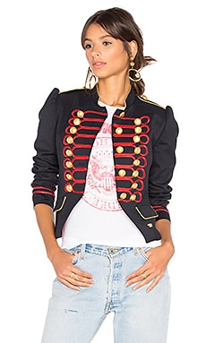 Condesa Beatle Jacket in Blue & Red