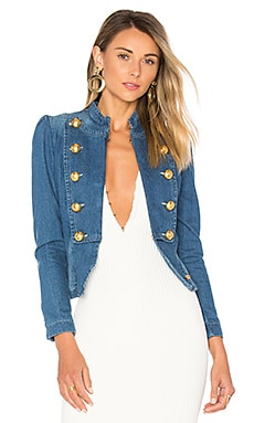 Marquesa Denim Jacket in Blue & Red