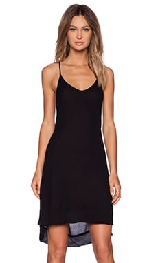 LACAUSA Arrow Slip Dress in Tar