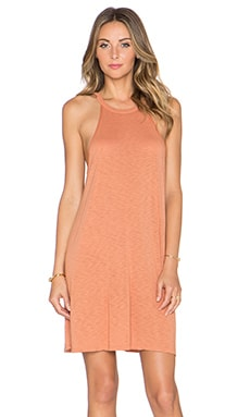 LACAUSA Petal Tank Dress in Sedona