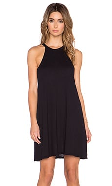 LACAUSA Petal Tank Dress in Tar