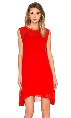 LACAUSA Sleeveless Mini w/ Slip in Tomato