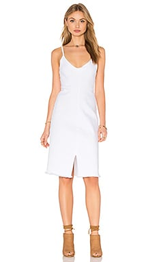 LACAUSA Lucile Dress in White Wash