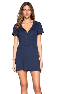 LACAUSA Henley Mini Dress in Honor