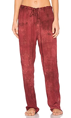 Dulce PJ Pant in Heirloom Crimson