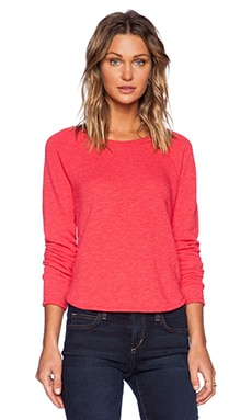 LACAUSA Felpa Pullover Sweatshirt in Stoplight