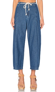LACAUSA Flora Pant in Medium Wash