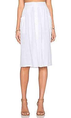 LACAUSA Bluegrass Skirt in White