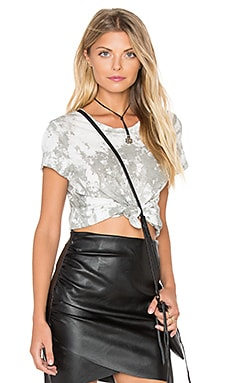 LACAUSA Vintage Frank Top in Silver Wash