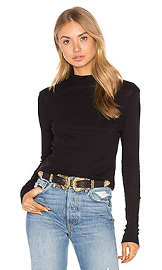 Thin Thermal Mock Neck Top