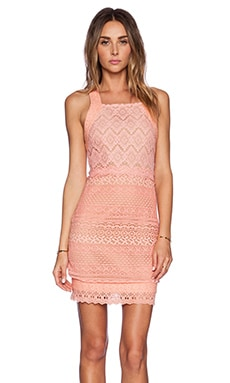 Ladakh Farrah Lace Dress in Coral