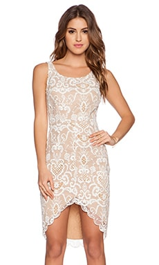 Ladakh Porcelain Lace Dress in White