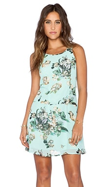 Fresh Floral Dress in Turquoise