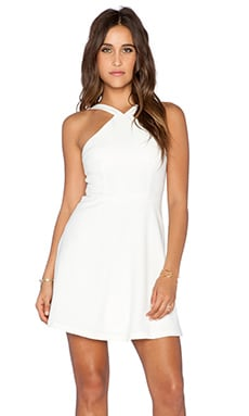 Strappy Skater Dress in Ivory