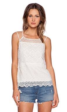 Ladakh Farrah Lace Cami in Ivory