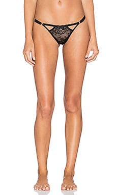 L'Agent by Agent Provocateur Estella Trixie Thong in Black