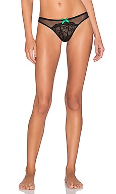 L'Agent by Agent Provocateur Felicita Thong in Black & Green