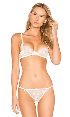 Madalene Non Pad Plunge Bra in Cream