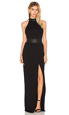 L'AGENCE Isabelle Maxi Dress in Black