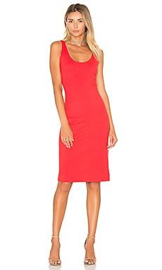 L'AGENCE Roxanne Tank Dress in Rouge