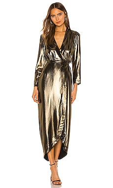 Reliah Long Sleeve Wrap Dress L'AGENCE $640 NEW ARRIVAL