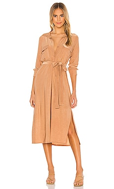 Rivi Long Shirt Dress L'AGENCE $425