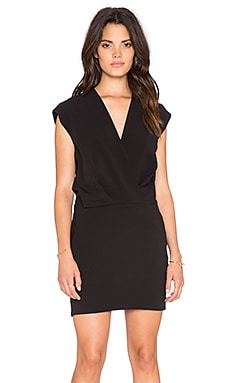 L'AGENCE Cara Mini Dress in Black