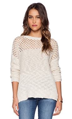 L'AGENCE Crochet Pullover in Natural