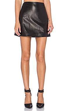 L'AGENCE Jolie A-Line Skirt in Black