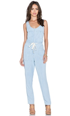L'AGENCE Sleeveless Jumpsuit in Washed Indigo