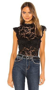 Kassia Ruffle Lace Top L'AGENCE $260