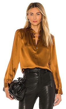 Bianca Band Collar Blouse L'AGENCE $375