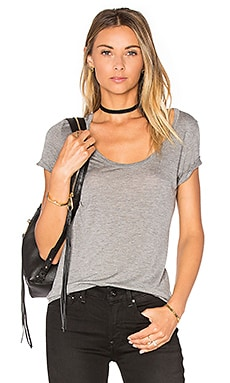 L'AGENCE Perfect Tee in Heather Grey