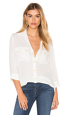 L'AGENCE Pauline Button Up in Ivory
