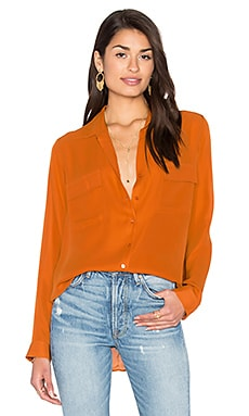 Margaret Double Pocket Blouse in Amber