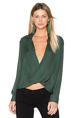 Rita Blouse in Hunter Green