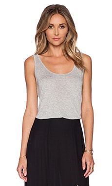 L'AGENCE Scoop Neck Tank in Heather Grey