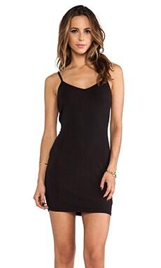 LA Made V-Neck Dress in Black