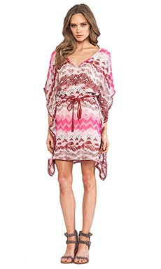 LA Made Caftan Sleeve Dress in Tribal Print