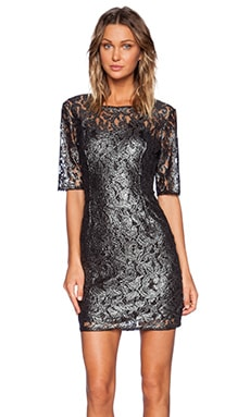 LA Made Vida Dress in Black & Silver