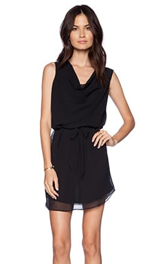 LA Made Cowl Tie Dress in Black