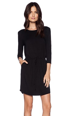 LA Made Peekaboo Dress in Black