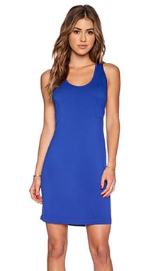 LA Made Scoop Neck Racerback Dress in Scuba