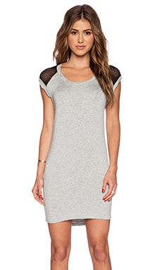 LA Made Rider Dress in Heather Grey & Black