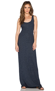 LA Made Amara Maxi Dress in Navy & Heather