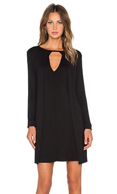 LA Made Kelsey Mini Dress in Black