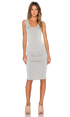 LA Made Frankie Ruched Dress in Heather Grey